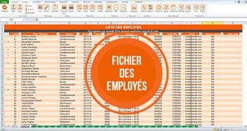 Liste des employés - TimeKeys Gestion des temps
