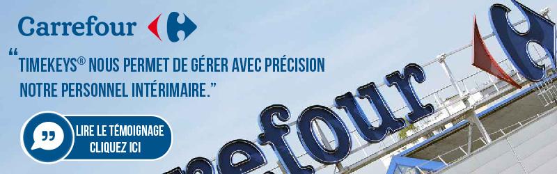 Carrefour service clients utilise la pointeuse TimeKeys Gestion des Temps
