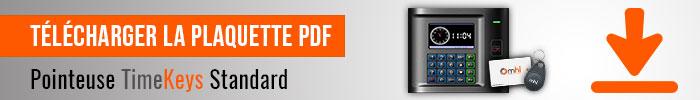 Pointeuse standard timekeys télécharger plaquette PDF