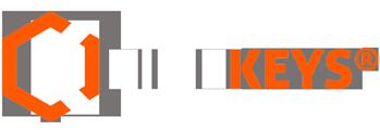 logo pointeuse timekeys blanc