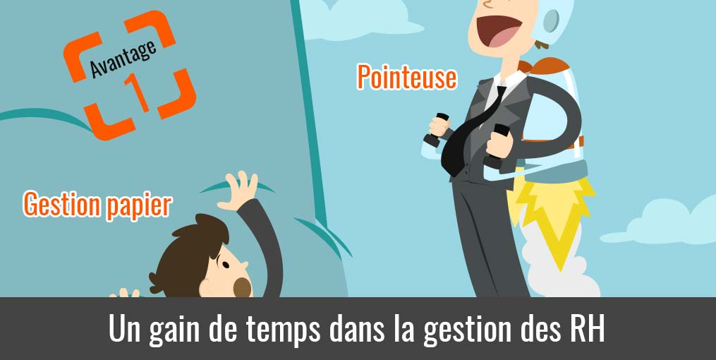 Pointeuse gain de temps rh
