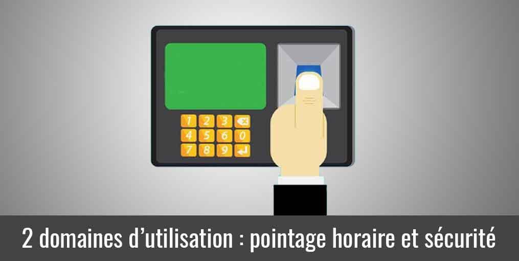 Une pointeuse biométrique pour le pointage horaire et le contrôle d'accès