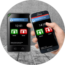 Pointeuse mobile smartphone timekeys