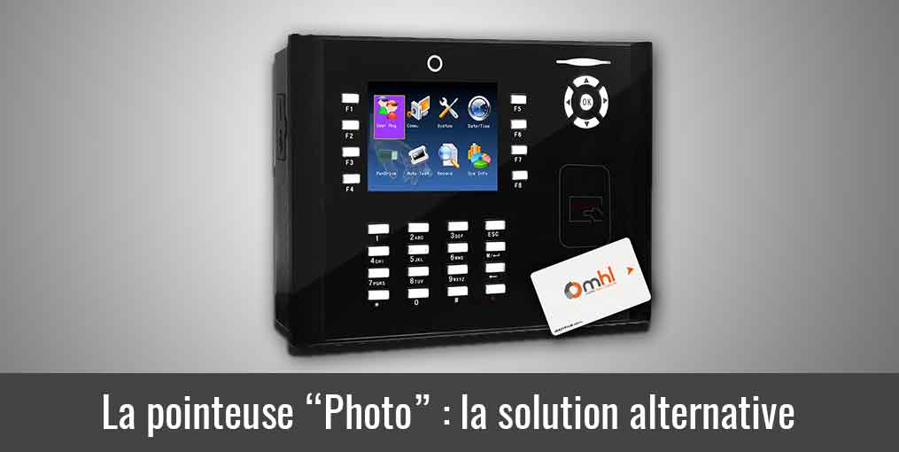 La pointeuse photo solution alternative à la biométrie