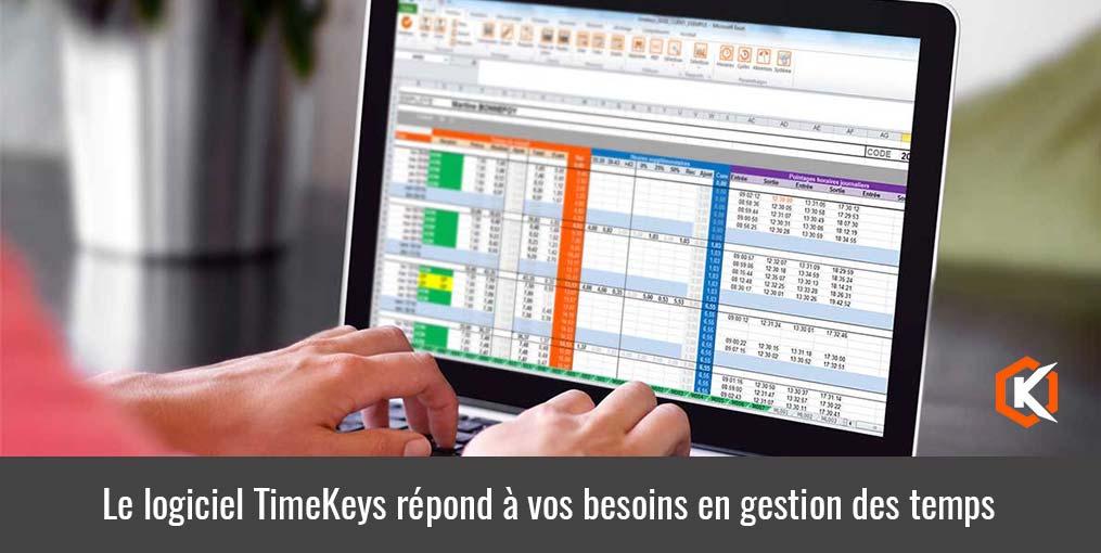 Le logiciel TimeKeys répond à vos besoisn en gestion des temps de travail